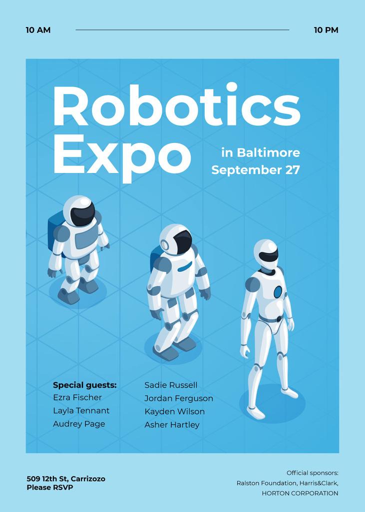 Android robot models in row — Создать дизайн