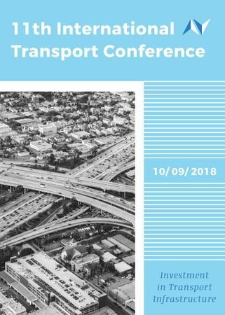 Transport Conference Announcement City Traffic View Flayer Modelo de Design