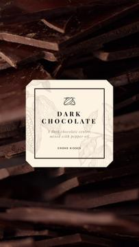 Sweet Dark Chocolate Pieces | Vertical Video Template