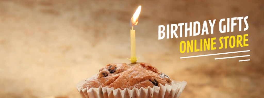 Birthday candle on muffin — Modelo de projeto