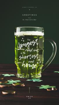 Saint Patrick's Day beer glass