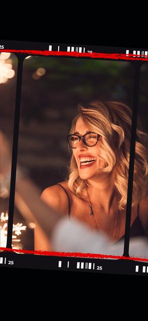 Girl having fun at Party Snapchat Moment Filter – шаблон для дизайну