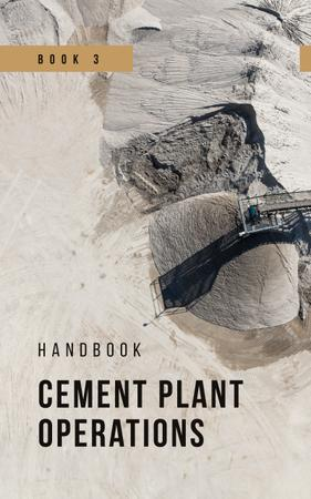 Cement Plant View in Grey Book Cover Design Template