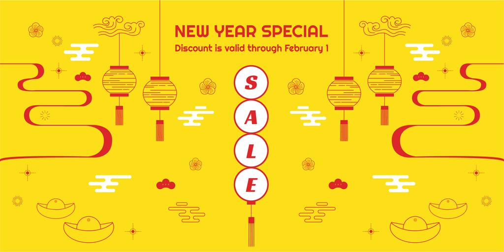 New Year Sale Chinese Style Attributes — Створити дизайн