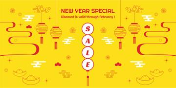 New Year Sale with Chinese Style Attributes