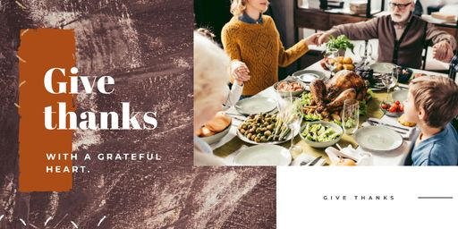 Family At Thanksgiving Dinner TwitterPost