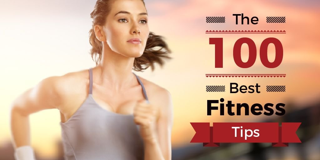 Fitness Tips Woman Running Outdoors | Twitter Post Template — Crear un diseño