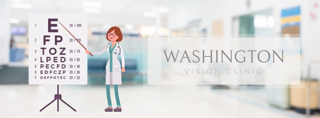 Female ophthalmologist in clinic Facebook Video cover Modelo de Design