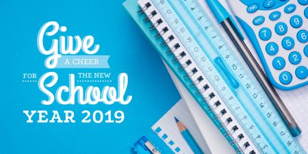 School stationary and calculator Image Modelo de Design