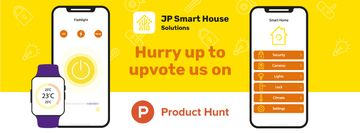 Product Hunt Launch Ad with Smart Home App on Screen