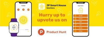 Product Hunt Launch Ad Smart Home App on Screen | Facebook Cover Template