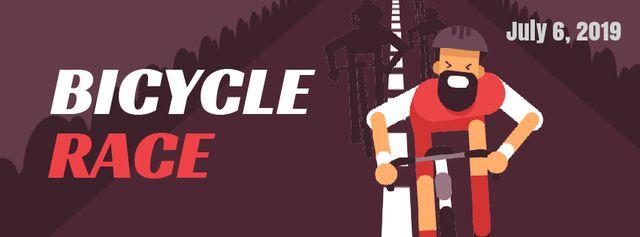 Modèle de visuel Cyclist racing on road - Facebook Video cover