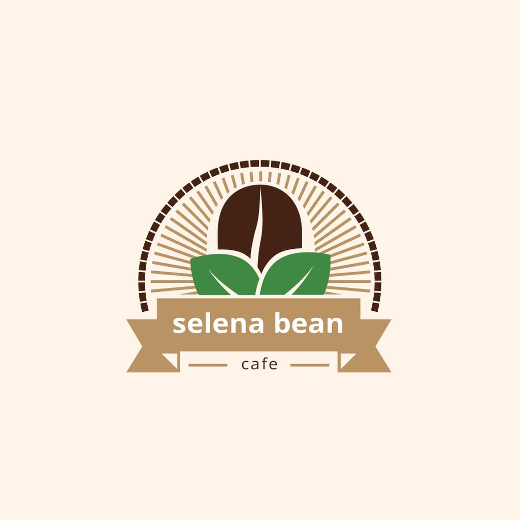 Cafe Ad Coffee Bean in Brown — Create a Design
