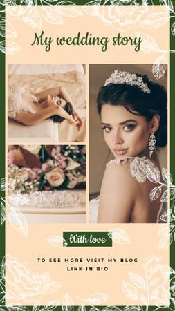 Wedding with Young beautiful Bride Instagram Story Modelo de Design