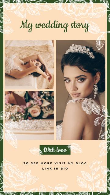 Modèle de visuel Wedding with Young beautiful Bride - Instagram Story