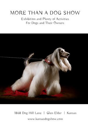 Plantilla de diseño de Dog Show announcement with pedigree pet Tumblr