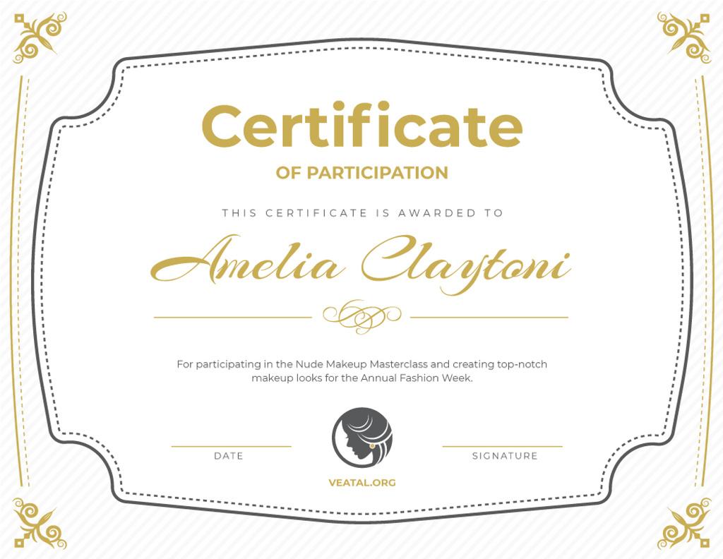 Makeup Workshop Participation confirmation — Crear un diseño