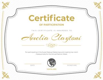 Makeup Workshop Participation confirmation