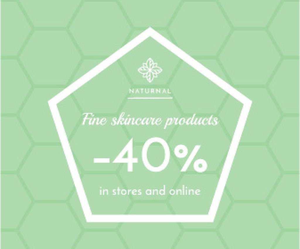 Skincare products sale advertisement — Créer un visuel