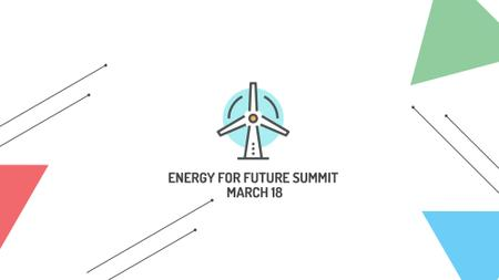 Conserve Energy Wind Turbine Icon FB event cover Modelo de Design