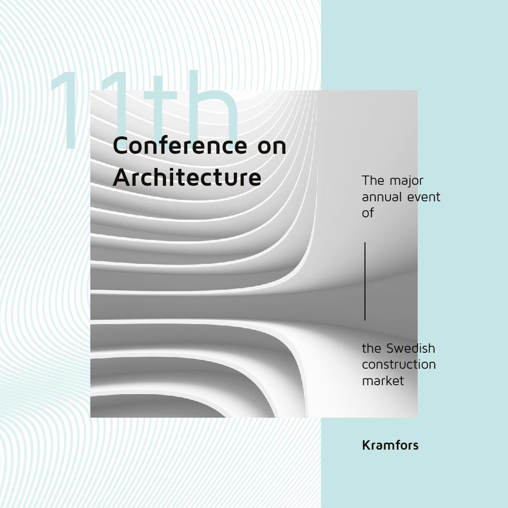 Conference Announcement Futuristic Concrete Structure Walls — ein Design erstellen