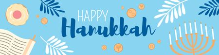 Happy Hanukkah greeting card Twitter Tasarım Şablonu