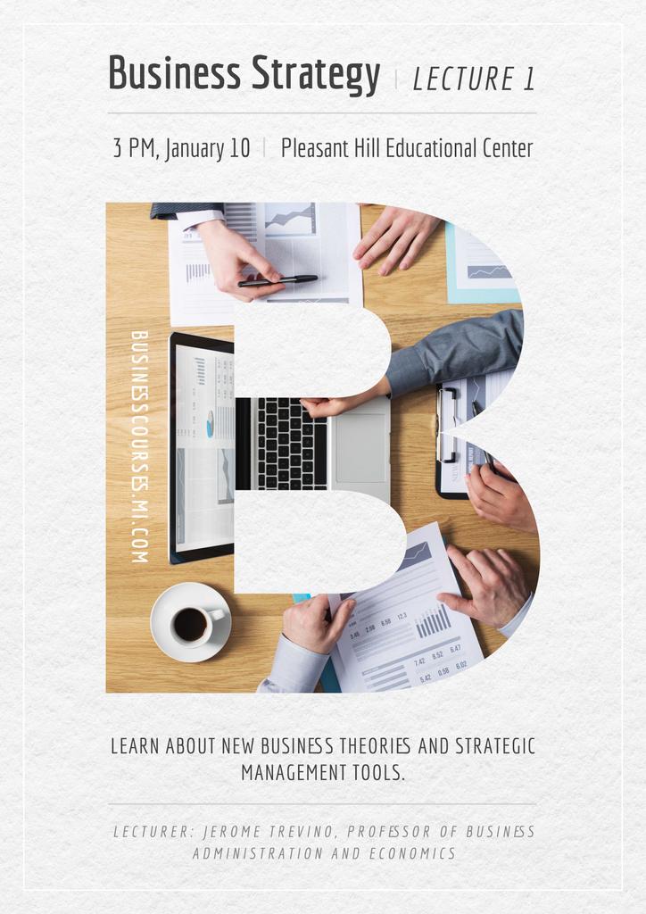 Business lecture in Educational Center — ein Design erstellen