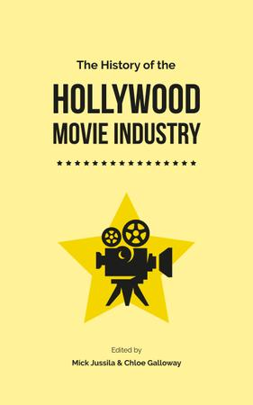 Plantilla de diseño de Movie Industry History Vintage Film Projector Book Cover
