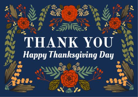 Template di design Thanksgiving day greeting card Postcard