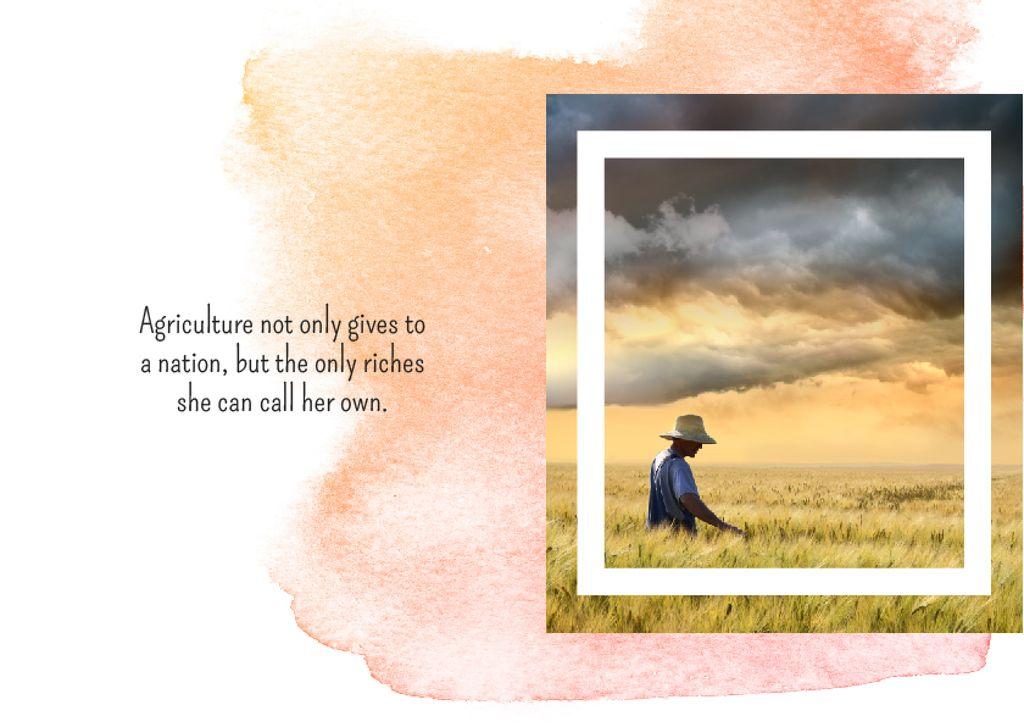 Farmer working in field — ein Design erstellen