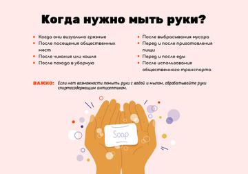 Коронавирусная осведомленность с правилами мытья рук