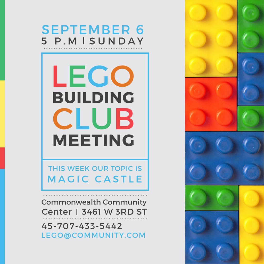 Lego Building Club Meeting — ein Design erstellen