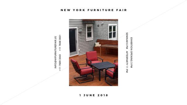 Template di design New York Furniture Fair announcement Title