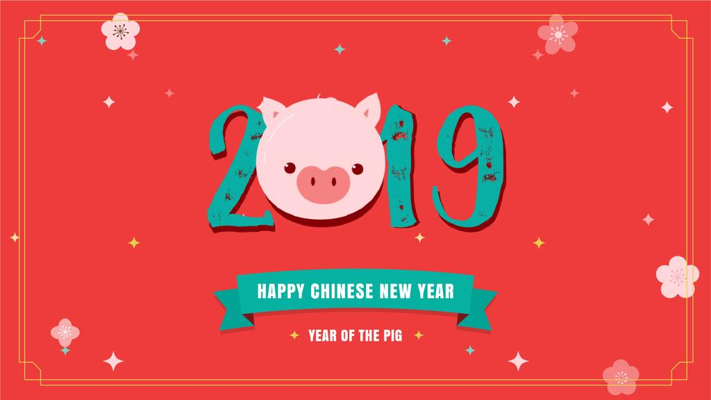 Happy Chinese Pig New Year — Modelo de projeto