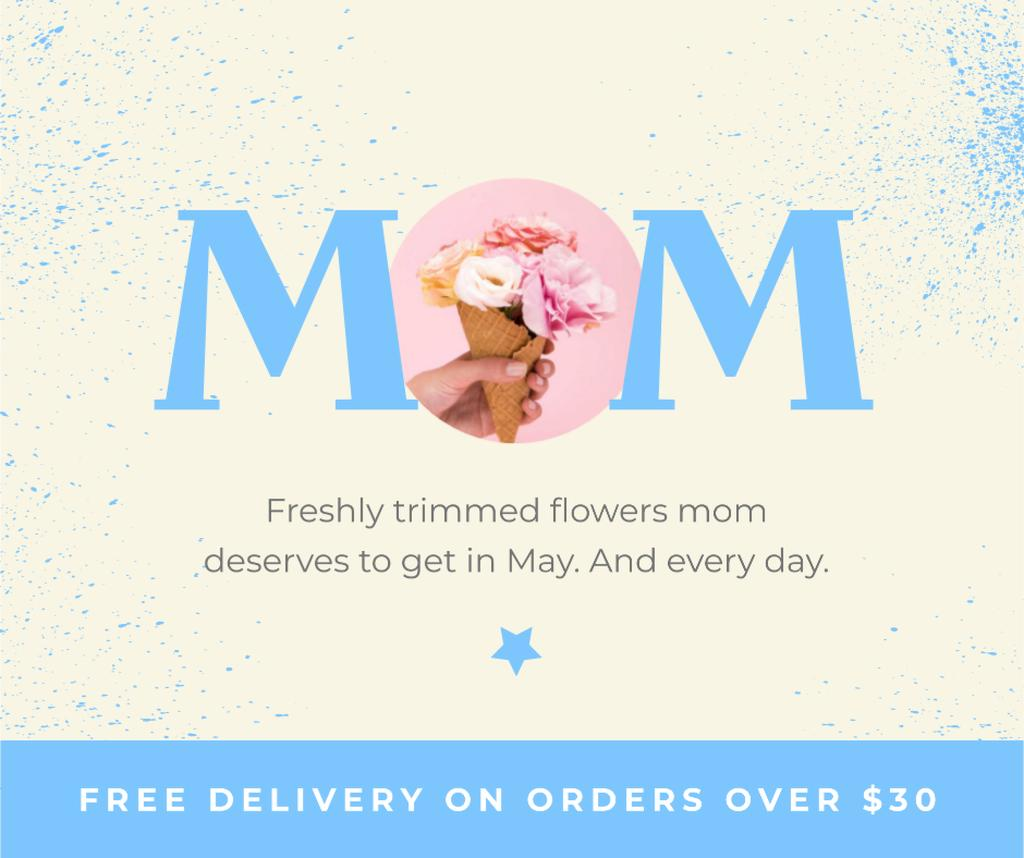 Flowers Delivery Offer on Mother's Day — Crear un diseño