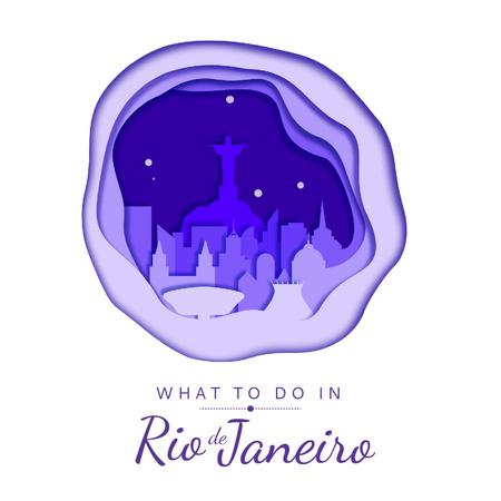 Rio De Janeiro City View Animated Post Modelo de Design