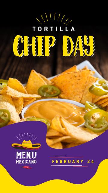 Plantilla de diseño de Tortilla chip day with Mexican Hat Instagram Story