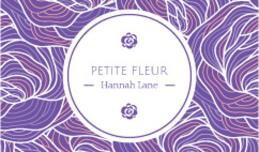 Petite fleur weekend card — Modelo de projeto