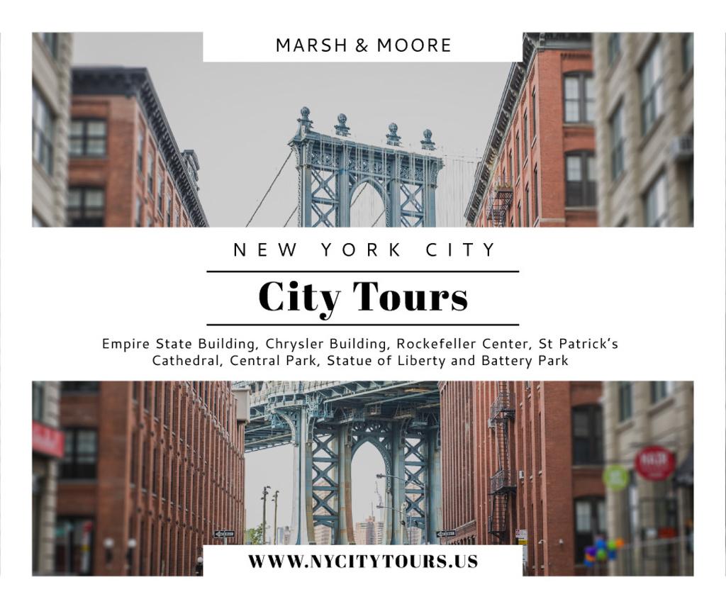 New York city tours advertisement — Modelo de projeto