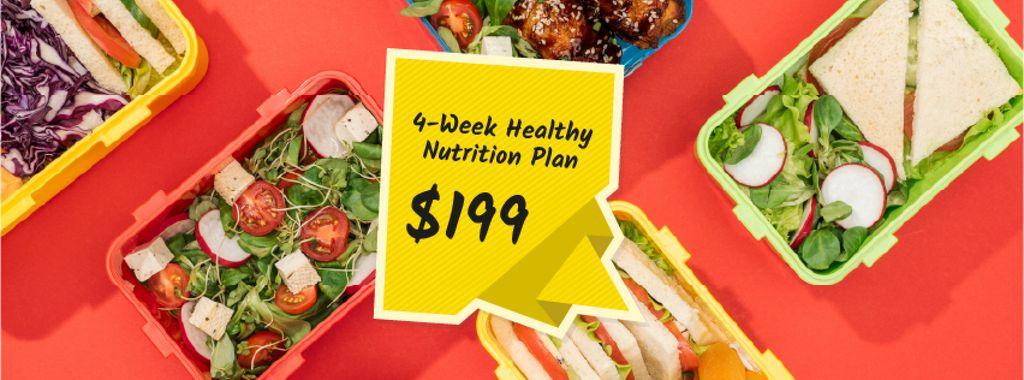 Nutrition Plan menu with Healthy Food — Crear un diseño