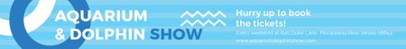Template di design Aquarium & Dolphin show Leaderboard