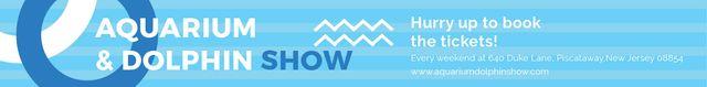 Aquarium & Dolphin show Leaderboard Modelo de Design
