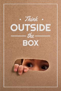creative thinking concept, think outside the box