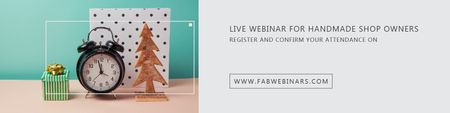 Ontwerpsjabloon van Twitter van Live webinar for handmade shop owners