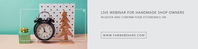 Template di design Live webinar for handmade shop owners Twitter