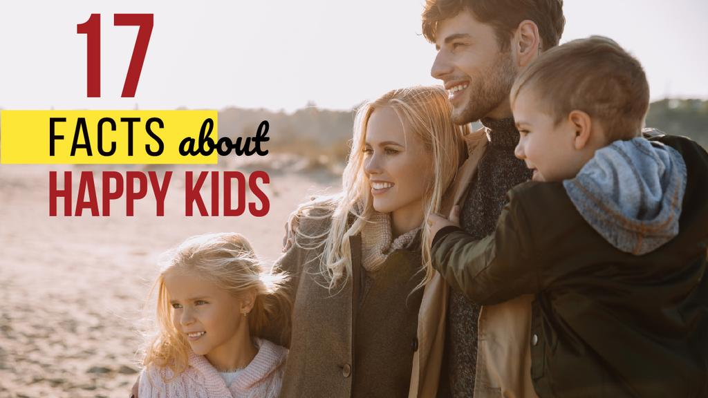 Parents with Kids Having Fun at Coast | Youtube Thumbnail Template — ein Design erstellen