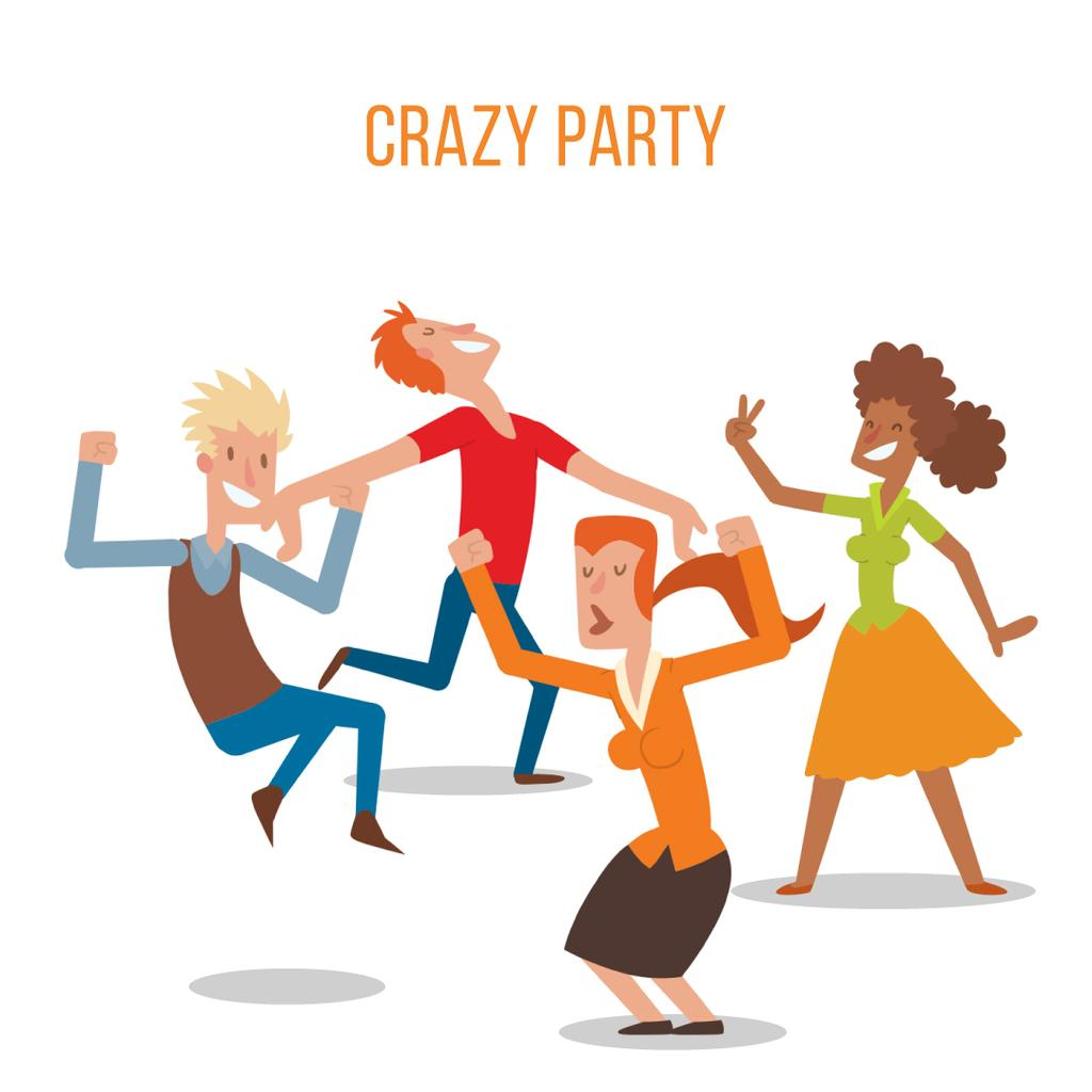 People dancing at a party — Créer un visuel