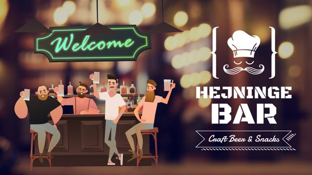 Template di design Bar Promotion Men Enjoying Drinks Full HD video