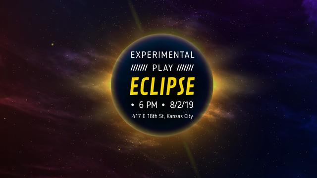 Plantilla de diseño de Solar eclipse in space Full HD video