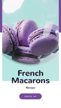 Ontwerpsjabloon van Instagram Story van French Macarons Ad in Purple